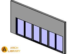 Curtain-Wall_Kawneer_1010-Mall-Front_OXX-XXO-25in.rfa