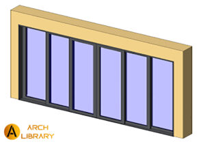 Door_6-Panel_Stacking_arch_TerraSpan.rfa