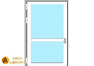 Door_Curtain_Stand-Alone-Door-TGP_Heat-Barrier-Series.rfa