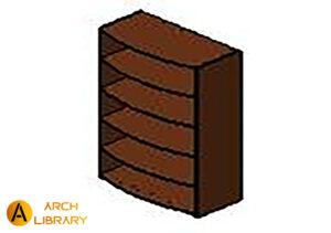 KO_Priority_Bookcase-Open_Arc-Front_Five-Shelves_53K3667BCOF.rfa