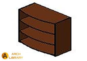KO_Priority_Bookcase-Open_Arc-Front_Three-Shelves_53K3640BCOF.rfa