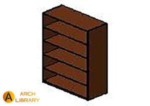 KO_Priority_Bookcase-Open_Five-Shelves_53K3667BCOSSF.rfa
