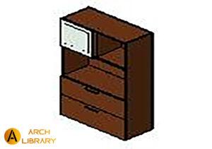 KO_Priority_Bookcase_w-Writable-Sliding-Door-Lateral-File_Full-Back_53K36--LFFOSFFG2.rfa